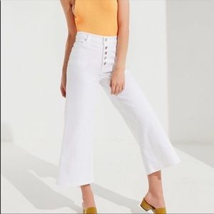 BDG white high waisted flare jeans